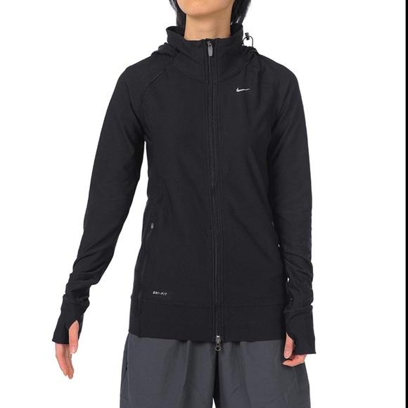 Nike Jackets & Blazers - Black Nike Running Jacket Women's Medium